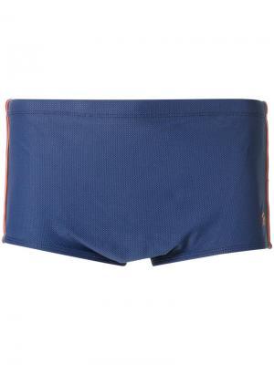 Panelled swimming trunks Blue Man. Цвет: синий
