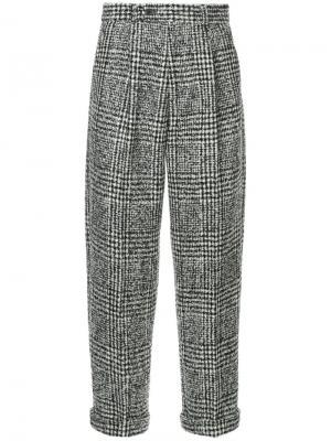 Укороченные брюки в клетку Éditions M.R. Цвет: чёрный