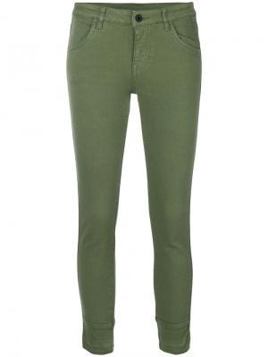 Укороченные брюки Ines Pence. Цвет: зелёный