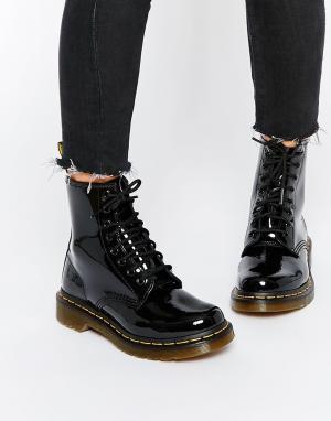 Dr Martens Лакированные ботинки с 8 парами люверсов Modern Classics 14. Цвет: черный