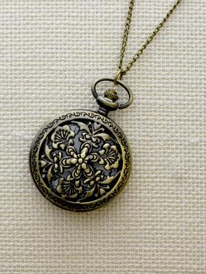 Кулон-часы Водяные лилии Mitya Veselkov. Цвет: бронзовый