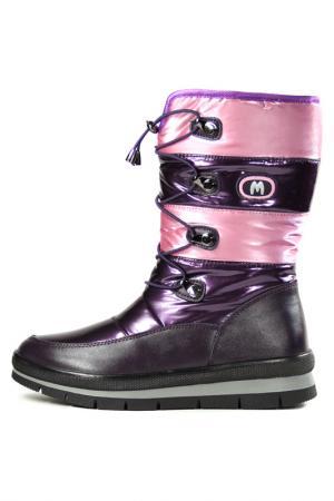 Сапожки Marko. Цвет: фиолетовый, розовый