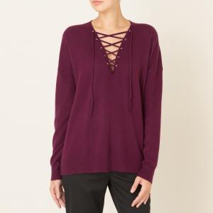 Пуловер женский из шерсти и кашемира THE KOOPLES. Цвет: бордовый