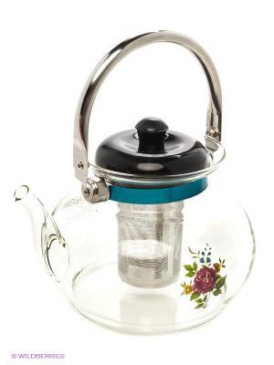 Чайник заварочный MAYER-BOCH. Цвет: прозрачный, серебристый