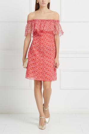 Платье Giamba. Цвет: коралловый