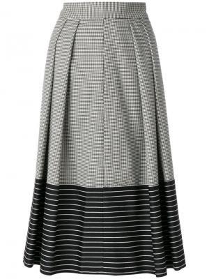 Houndstooth skirt Marco De Vincenzo. Цвет: белый