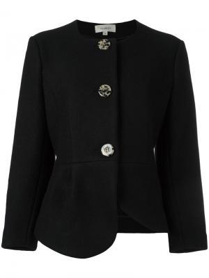 Пиджак с асимметричной баской Isa Arfen. Цвет: чёрный