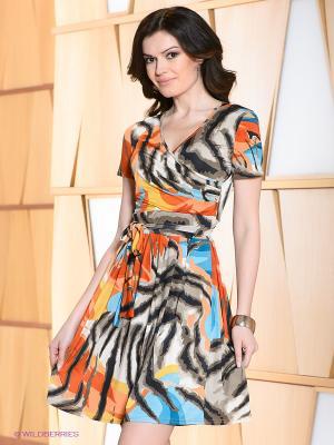 Платье Hammond. Цвет: бежевый, оранжевый