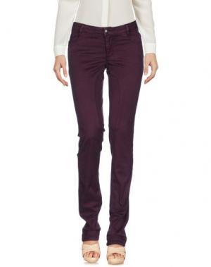 Повседневные брюки SIVIGLIA. Цвет: баклажанный