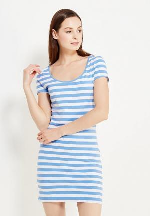 Платье oodji. Цвет: голубой