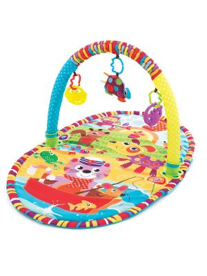 Playgro Игрушка активный центр Прогулка. Цвет: желтый, голубой, фиолетовый, красный