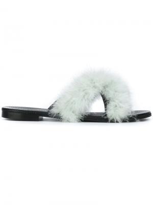 Marabou flat sandals Avec Modération. Цвет: зелёный