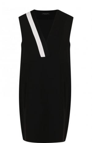 Мини-платье свободного кроя с V-образным вырезом Rag&Bone. Цвет: черный