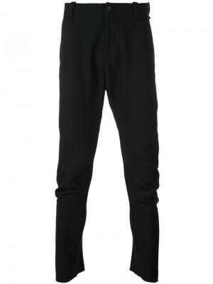 Свободные брюки Masnada. Цвет: чёрный