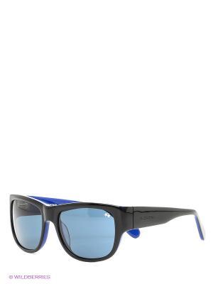 Очки солнцезащитные LM 534S 01 La Martina. Цвет: черный, синий