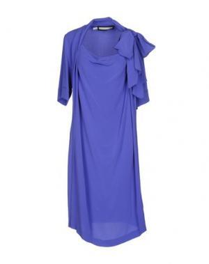Платье до колена AQUILANO-RIMONDI. Цвет: фиолетовый