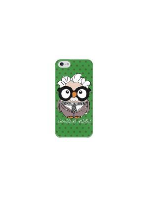 Чехол для iPhone 5/5S Альберт Эйнштейн Goofi. Цвет: зеленый