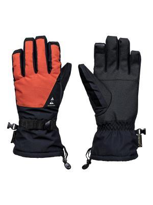 Перчатки Quiksilver. Цвет: рыжий
