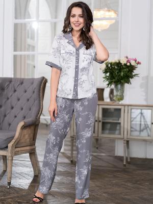 Пижама MIA-MELLA. Цвет: серый, белый