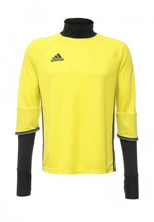 Лонгслив спортивный adidas Performance. Цвет: желтый