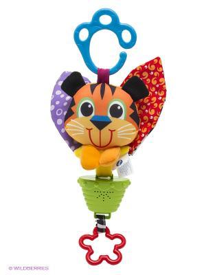 Музыкальная подвеска Тигр Playgro. Цвет: оранжевый, зеленый, сиреневый, красный
