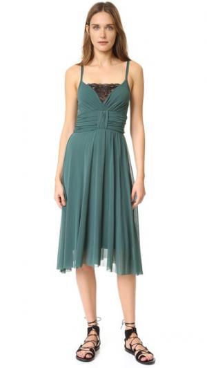 Платье без рукавов Fuzzi. Цвет: зеленый