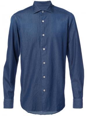 Джинсовая рубашка The Gigi. Цвет: синий