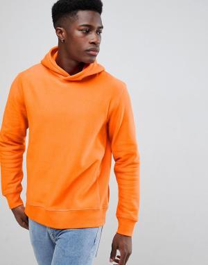 Weekday Меланжевый худи. Цвет: оранжевый