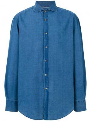 Classic denim shirt Brunello Cucinelli. Цвет: синий