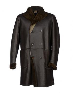 Пальто D'AMICO. Цвет: темно-коричневый