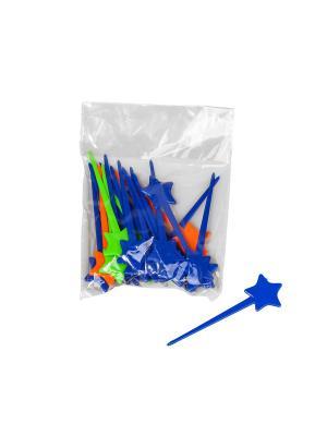 Шпажки для канапе - 75 шт. Migura. Цвет: синий, зеленый, оранжевый