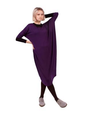 Джемпер, платье Апрель. Цвет: черный, фиолетовый
