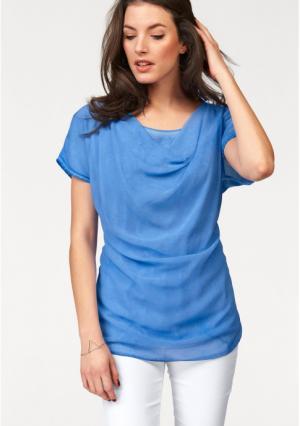 Блузка VIVANCE. Цвет: голубой
