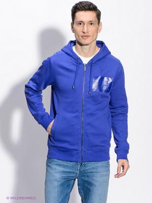 Толстовка Calvin Klein. Цвет: синий