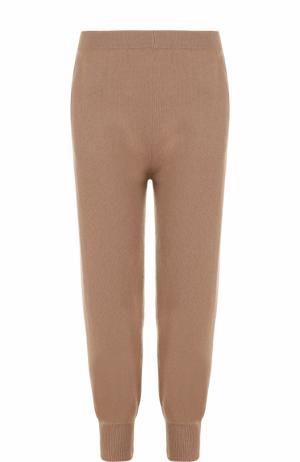 Кашемировые джоггеры с карманами Allude. Цвет: коричневый