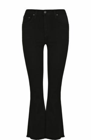 Укороченные расклешенные брюки Rag&Bone. Цвет: черный