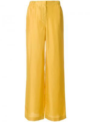 Расклешенные брюки с высокой талией Alberta Ferretti. Цвет: жёлтый и оранжевый