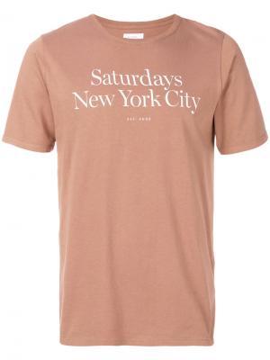 Футболка Miller Saturdays Nyc. Цвет: розовый и фиолетовый