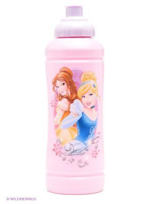 Бутылка спортивная Принцессы Trudeau. Цвет: бледно-розовый