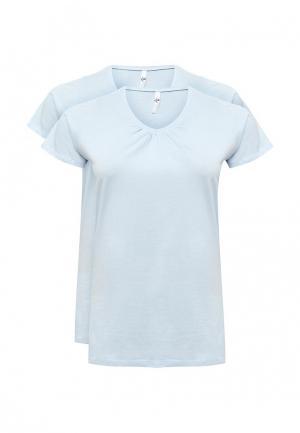 Комплект футболок 2 шт. Evans. Цвет: разноцветный
