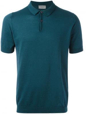 Рубашка-поло John Smedley. Цвет: зелёный