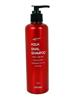 Увлажняющий шампунь с муцином улитки, 300 ml EPONA. Цвет: кремовый