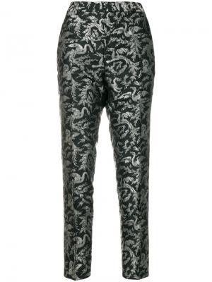 Жаккардовые брюки Okyo Essentiel Antwerp. Цвет: чёрный