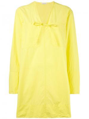 Платье-туника Tomas Maier. Цвет: жёлтый и оранжевый
