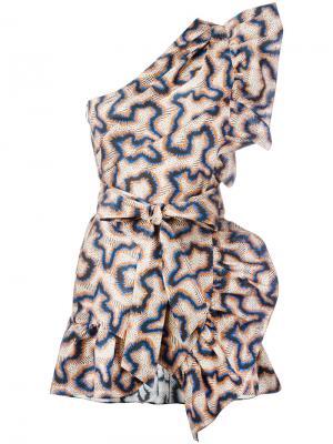 Платье на одно плечо Isabel Marant. Цвет: многоцветный