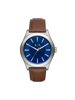 Часы Armani Exchange. Цвет: коралловый, синий, серебристый