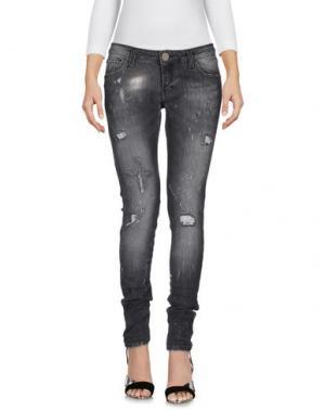 Джинсовые брюки LES NOIR. Цвет: стальной серый