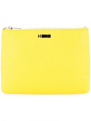 Бумажник с застежкой-молнией H Beauty&Youth. Цвет: жёлтый и оранжевый