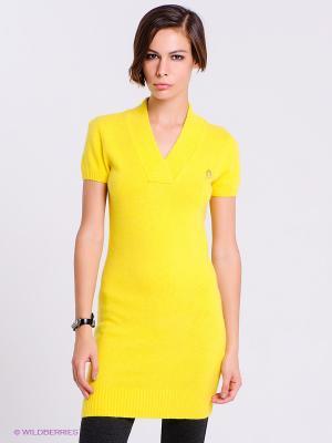 Платье CONVER. Цвет: желтый