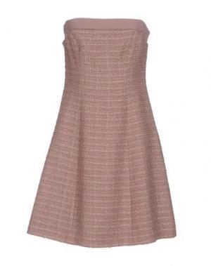 Короткое платье LIST. Цвет: пастельно-розовый